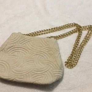 Bags by Marlo tan/gold purse
